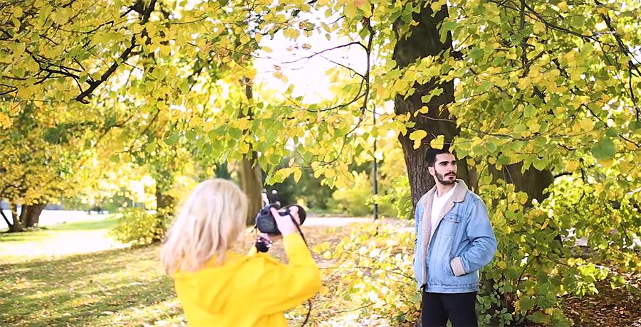 Fotoshooting mit Mann im Herbst Tipps