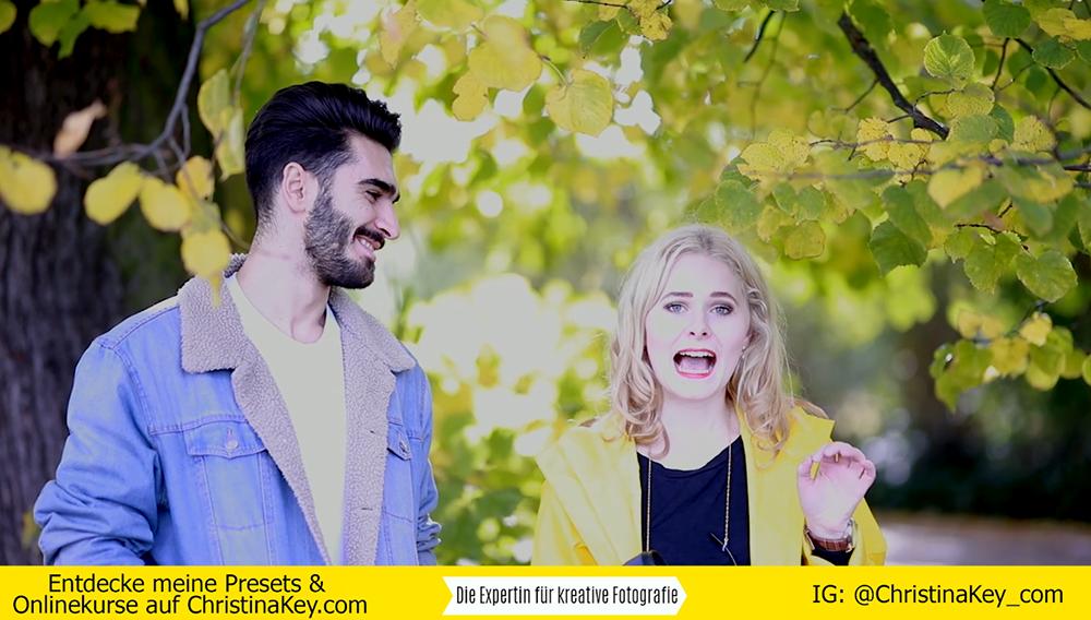 Fotoshooting mit Mann im Herbst Video mit Tipps