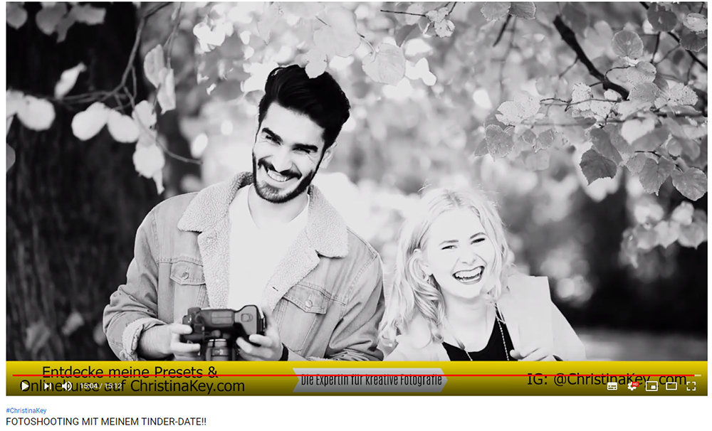 Fotoshooting mit Mann im Herbst Video