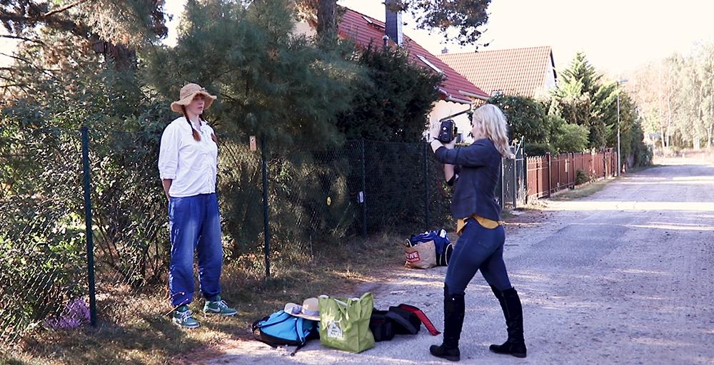 Fotoshooting mit rothaarigem Model Christina Key
