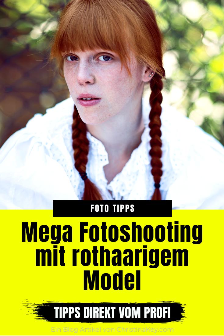 Fotoshooting mit rothaarigem Model