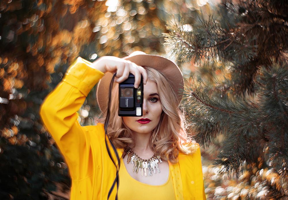Selbstportraits im Herbst Christina Key Portrait