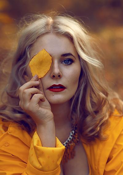 Selbstportraits im Herbst Portrait