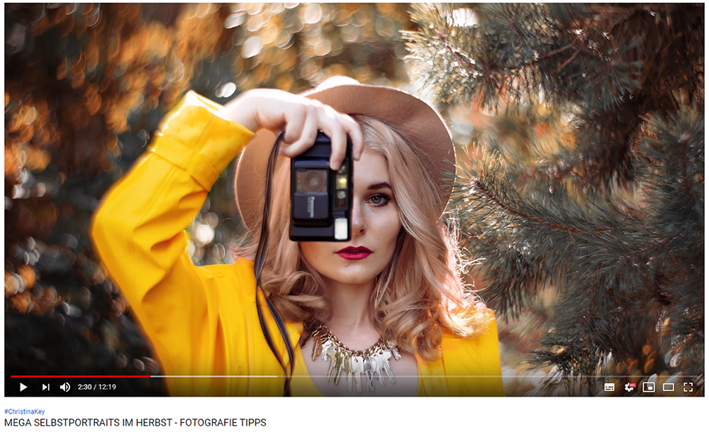 Selbstportraits im Herbst Video