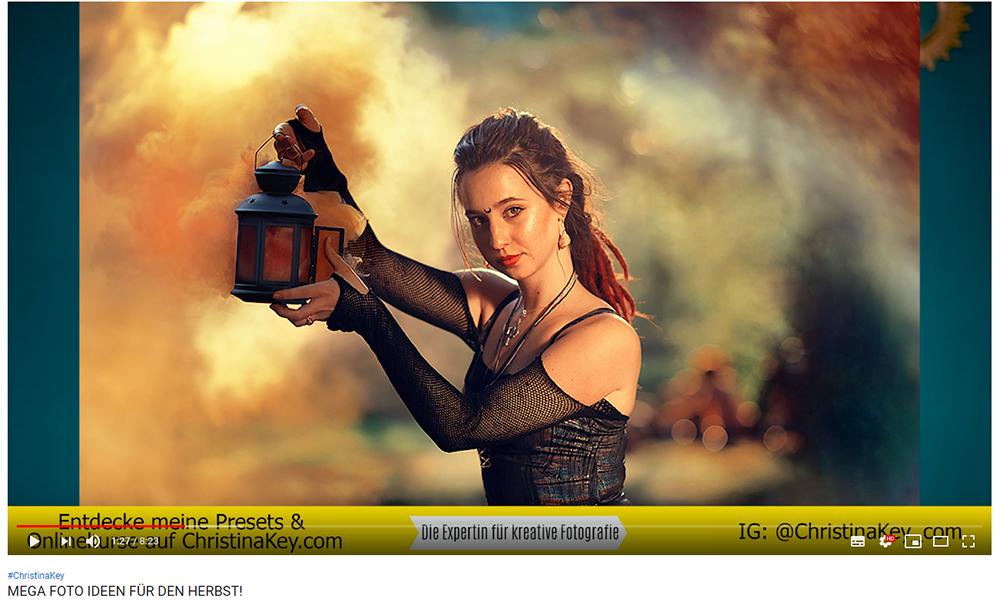 Mega Foto Ideen für den Herbst Rauchbomben Portrait