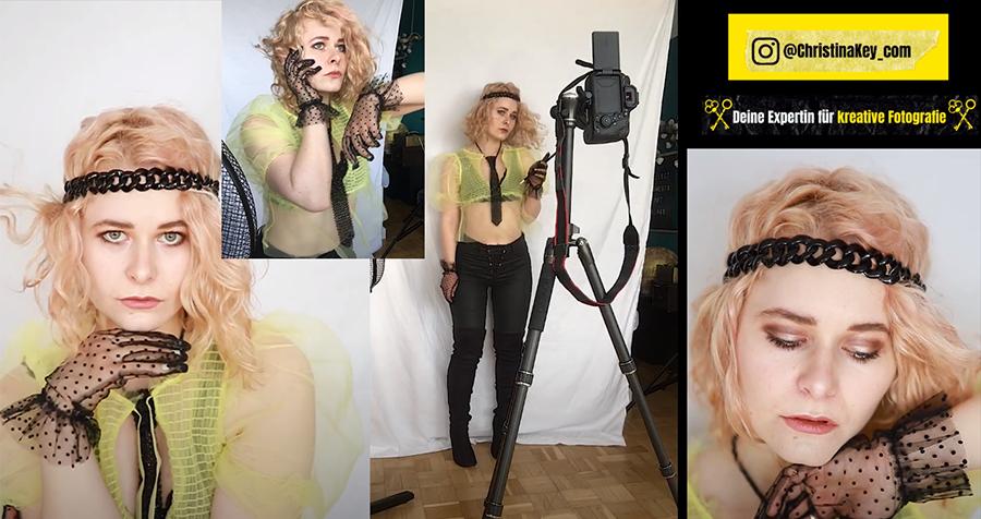 Sexy Selbstportraits Zuhause fotografiere