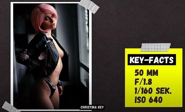 Sexy Selfies mit Perücke Christina Key