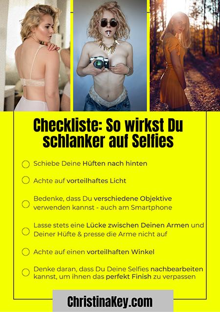 Auf Selfies schlanker aussehen Checkliste