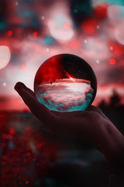 Lensball Fotografie Bild Idee