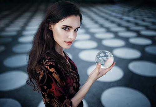 Lensball Fotografie Portrait Frau