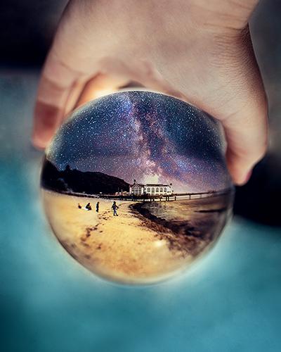 Lensball Fotografie Sternenhimmel