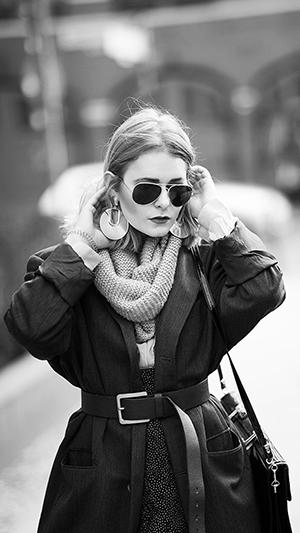 Herbst Outfit Damen 80er Look