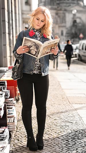 Herbst Outfit Damen Jeansjacke