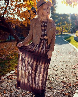 Herbst Outfit Damen Kleid
