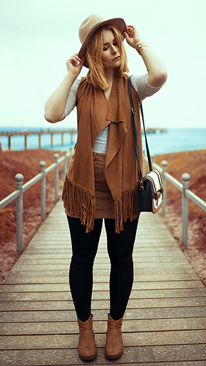 Herbst Outfit Damen boho look