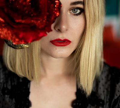 Selfie mit Rose Christina Key