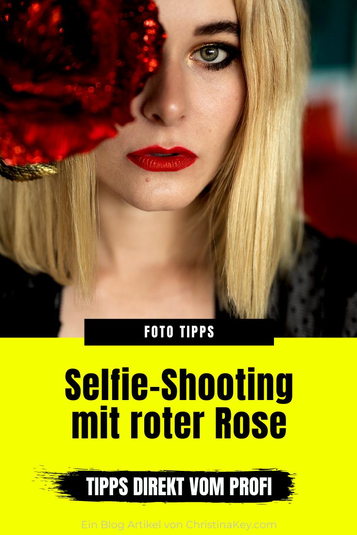 Selfie mit Rose