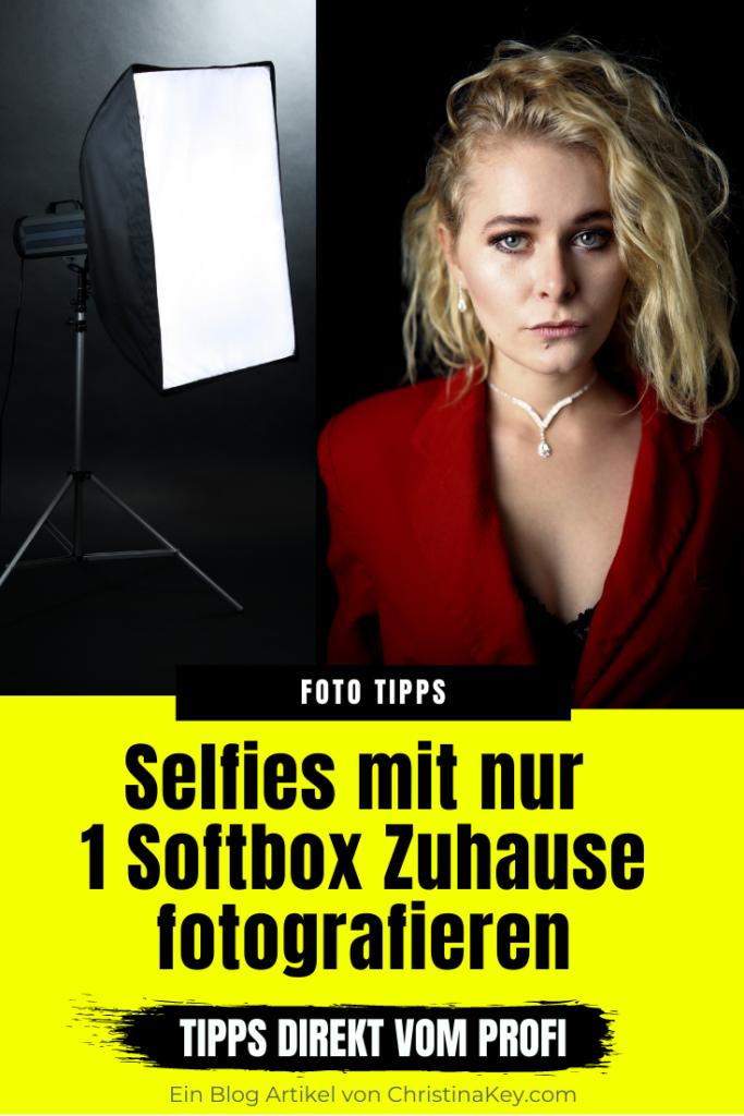 Selfies mit einer Softbox