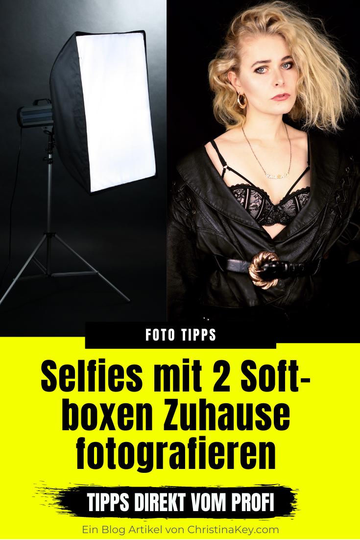 Selfies mit zwei Softboxen