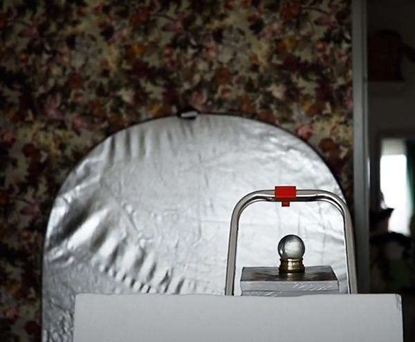 Romantische Selfies Zuhause fotografieren Reflektor