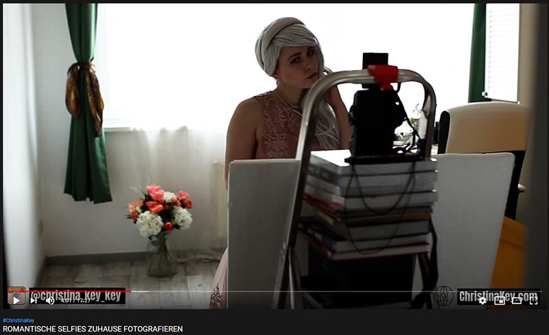 Romantische Selfies Zuhause fotografieren Video