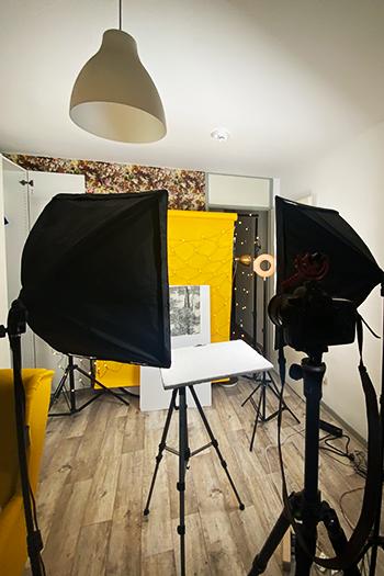 Fotografiere deshalb mit einer Styroporplatte Homestudio