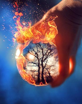 Glaskugel Fotografie Ideen Feuer