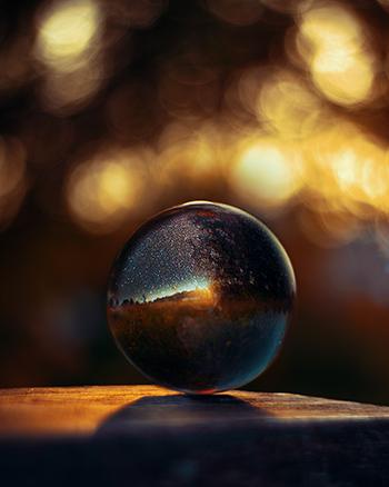 Glaskugel Fotografie Ideen Gegenlicht Abend