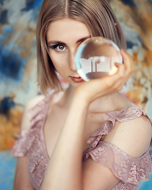 Glaskugel Fotografie Ideen Portrait Frau