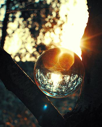 Glaskugel zum Fotografieren Fotoqualität