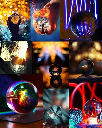 Glaskugel zum Fotografieren Tipps