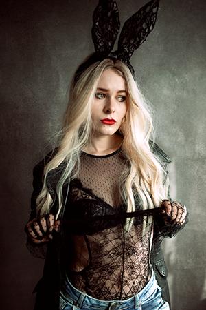 Selfie Idee Fashionshooting Hasenohren Christina Key