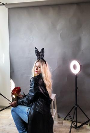 Selfie Idee Fashionshooting Hasenohren Ringlicht