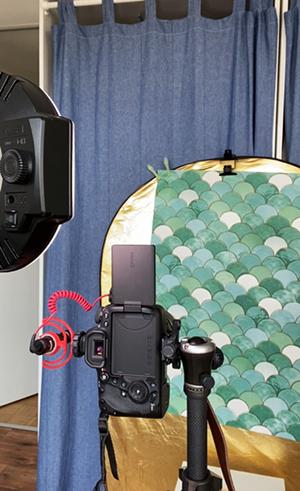 Selfies mit DIY Studiohintergrund und Ringlicht Zuhause fotografieren tipps