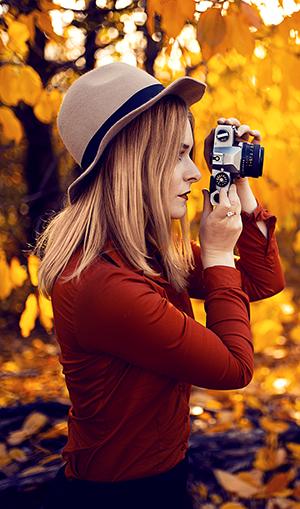 Brennweite in der Porträt-Fotografie Selbstportraits