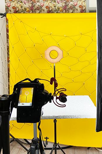 Brennweite in der Porträt-Fotografie Styroporplatte